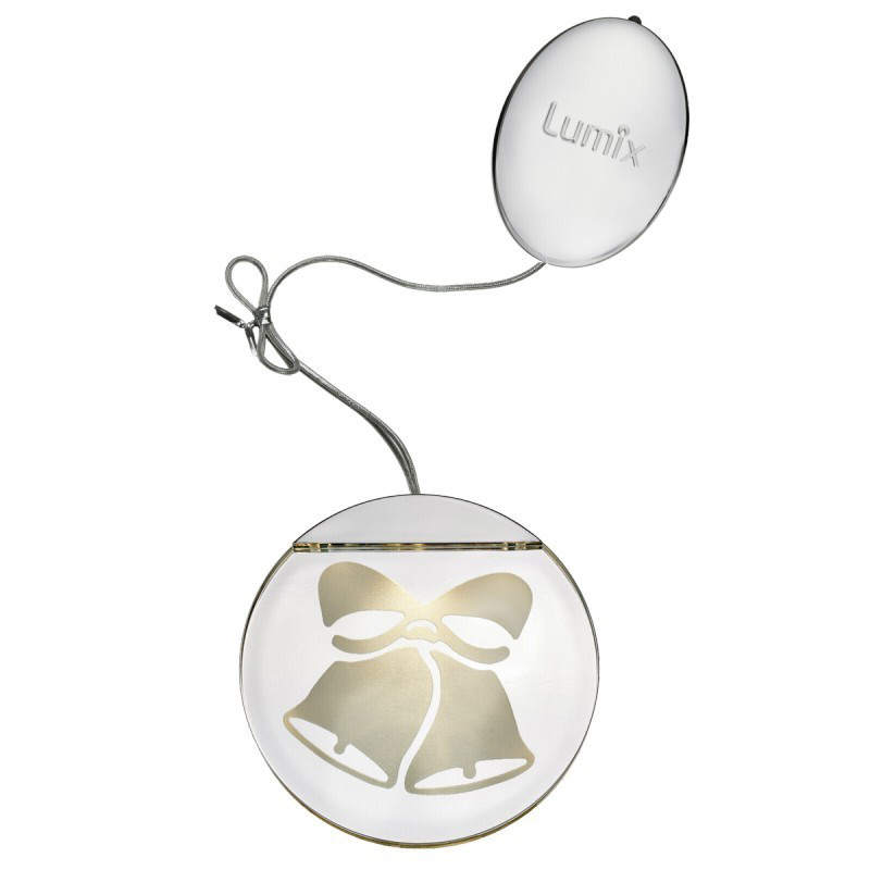 Krinner Deco Highlights silver 10cm LED Light Element   Bell