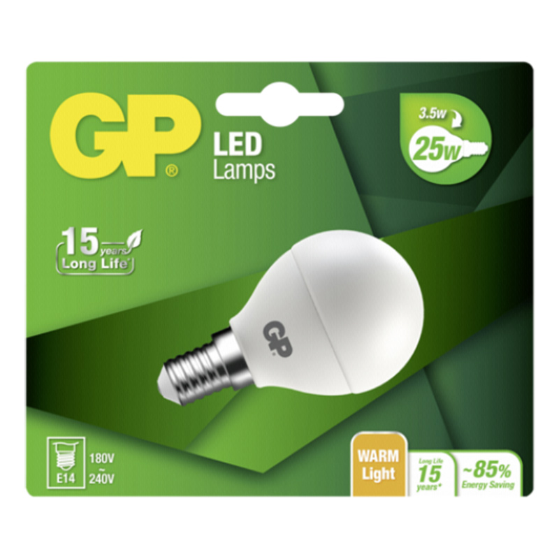 GP Lighting LED Mini Globe E14 3,5W (25W)  250 lm