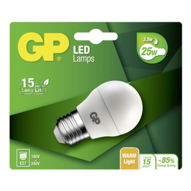 GP Lighting LED Mini Globe E27 3,5W (25W)  250 lm