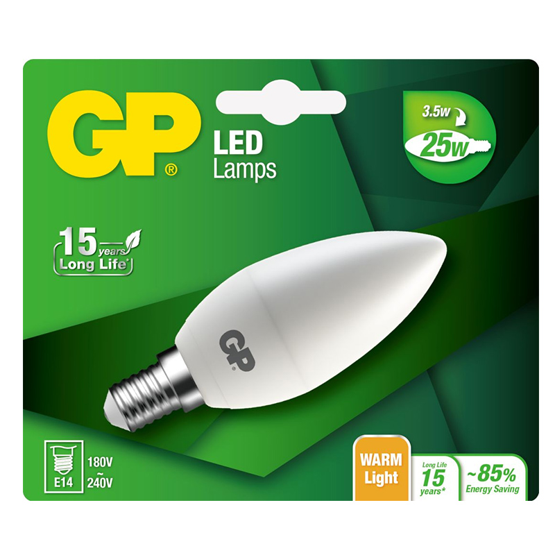 GP Lighting LED Mini Candle E14 3,5W (25W)  250 lm     GP 077992