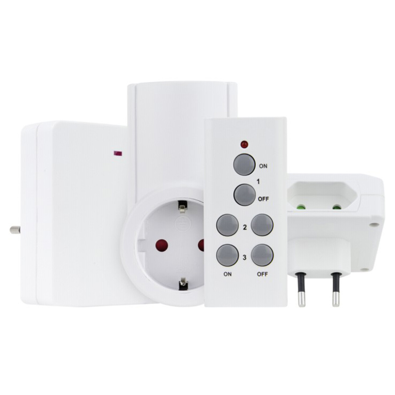 REV Radio switch Set extraflach 1+1+2 white