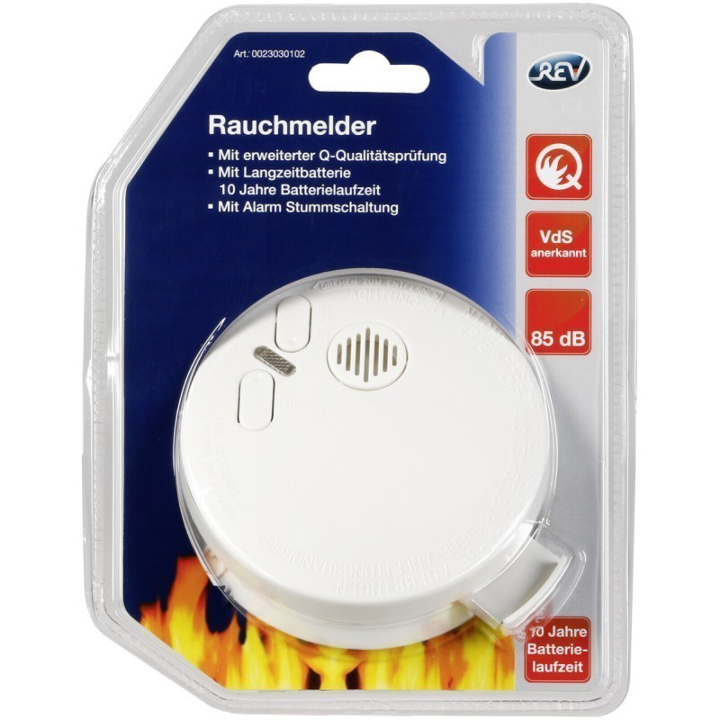 REV Smoke Detector with Longlife Battery