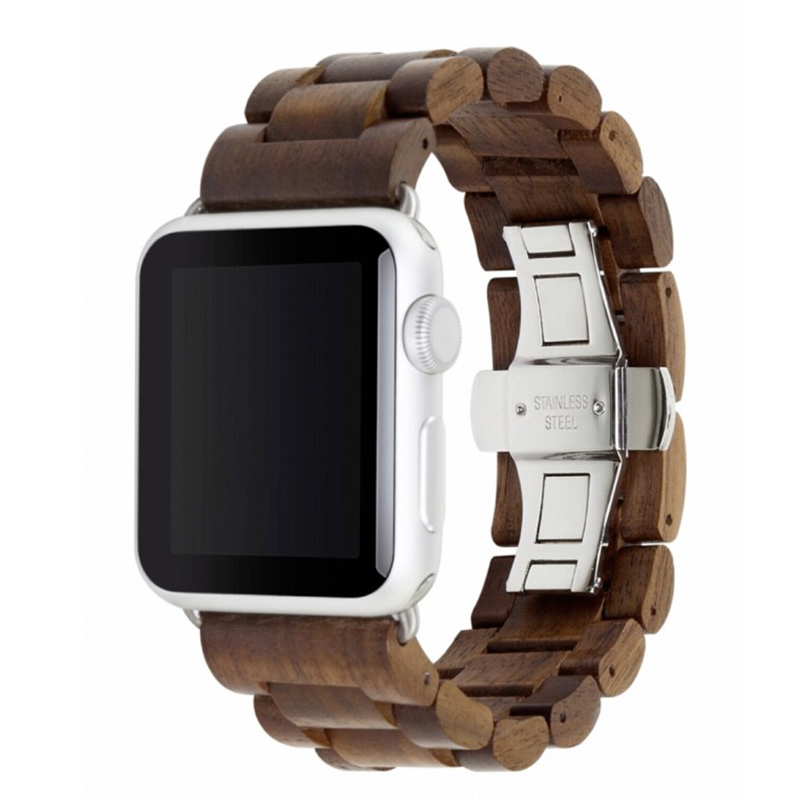 Woodcessories EcoStrap Apple Watch Band 42mm, walnut silver