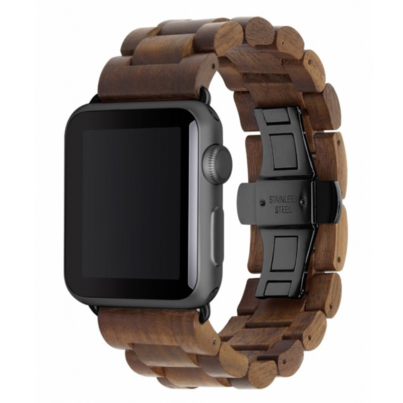 Woodcessories EcoStrap Apple Watch Band 42mm, walnut black