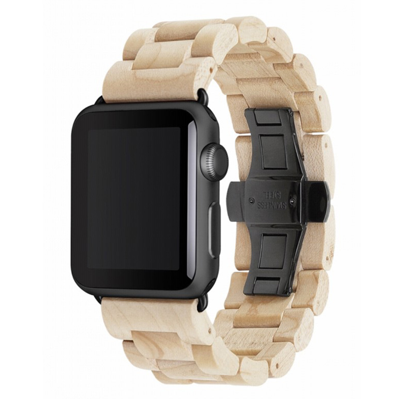 Woodcessories EcoStrap Apple Watch Band 42mm, maple black