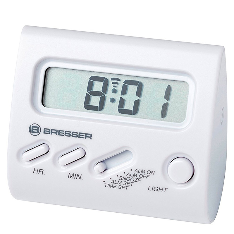 Bresser Alarm Clock YO-YO LCD-Display white