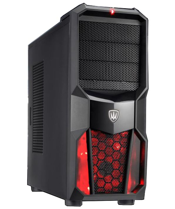 POWERTECH Gaming Case CP-626-RD, LED fan 120mm red, χωρίς PSU