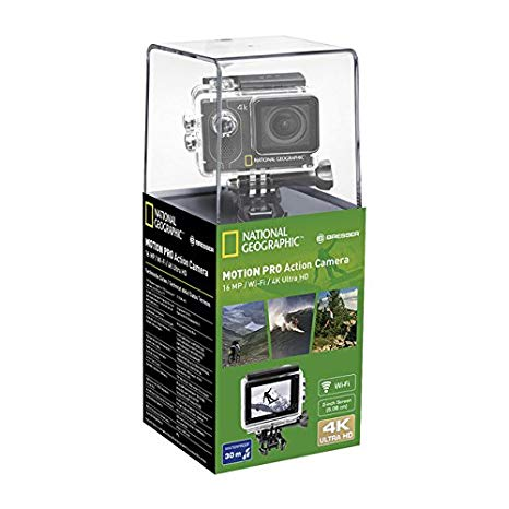 National Geographic 4K Action Camera WLAN 140°