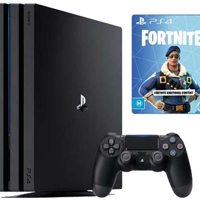 Console Playstation 4 Pro 1TB black includes Fortnite