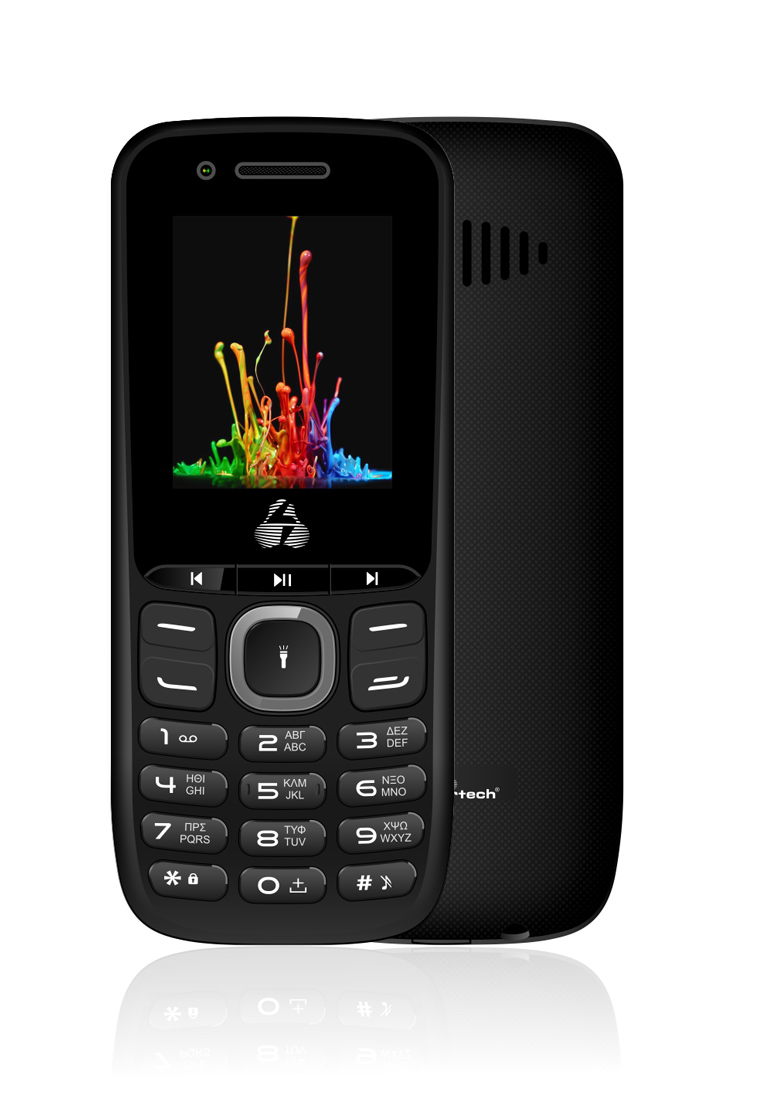 POWERTECH Κινητό Τηλέφωνο Milly Small PTM-14, Dual SIM, Multimedia μαύρο