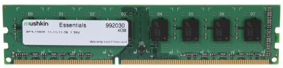 Mushkin Essentials DIMM 4 GB DDR3-1600 1.35V