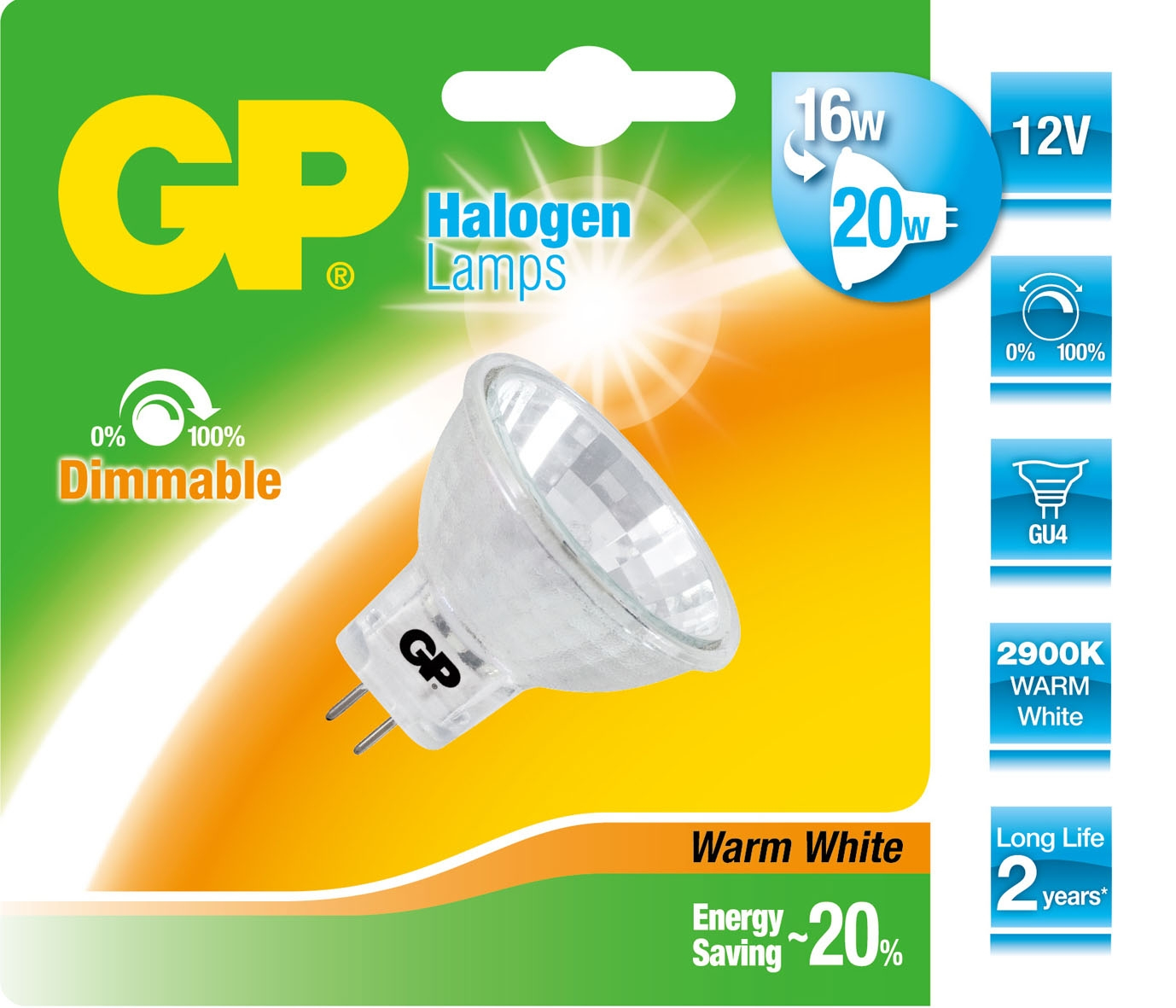 GP Lighting Halogen Reflector GU4 20W (25W) 200 lm 12V