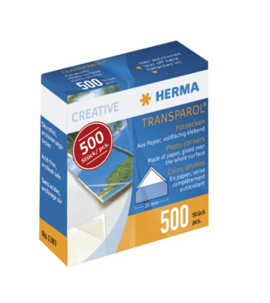 Herma photo corners  500 pcs 1383
