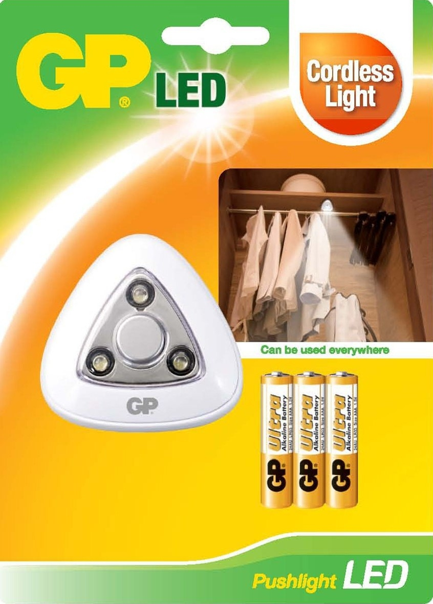 GP Lighting Pushlight LED Lamp incl. Batteries     810PUSHLIGHT