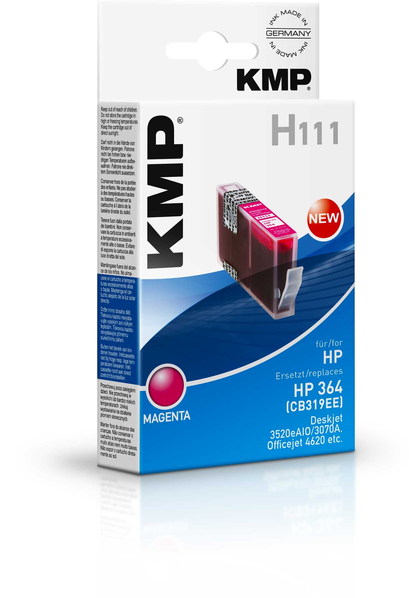 KMP H111 ink cartridge magenta compatible with HP CB 319 EE