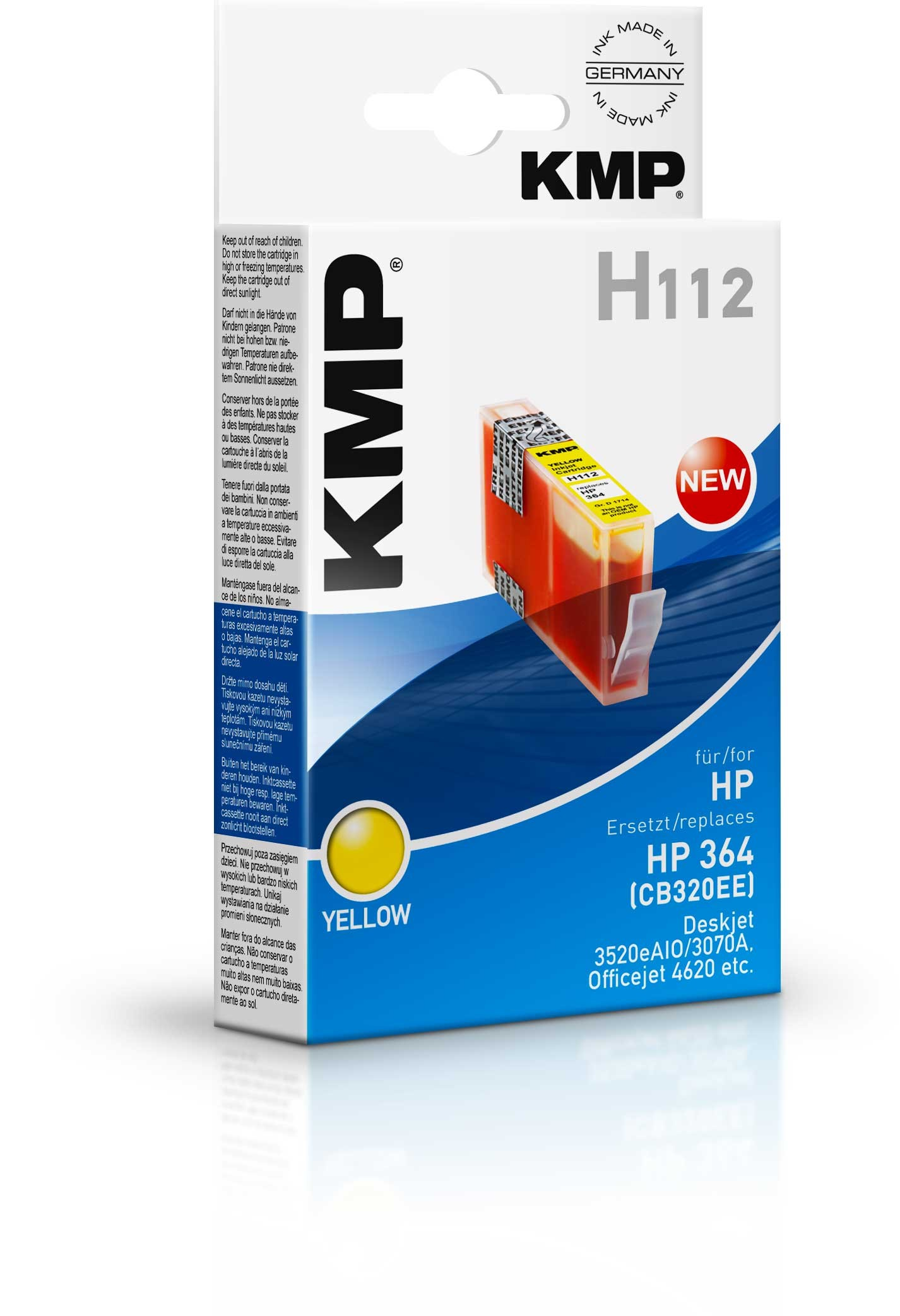 KMP H112 ink cartridge yellow compatible with HP CB 320 EE