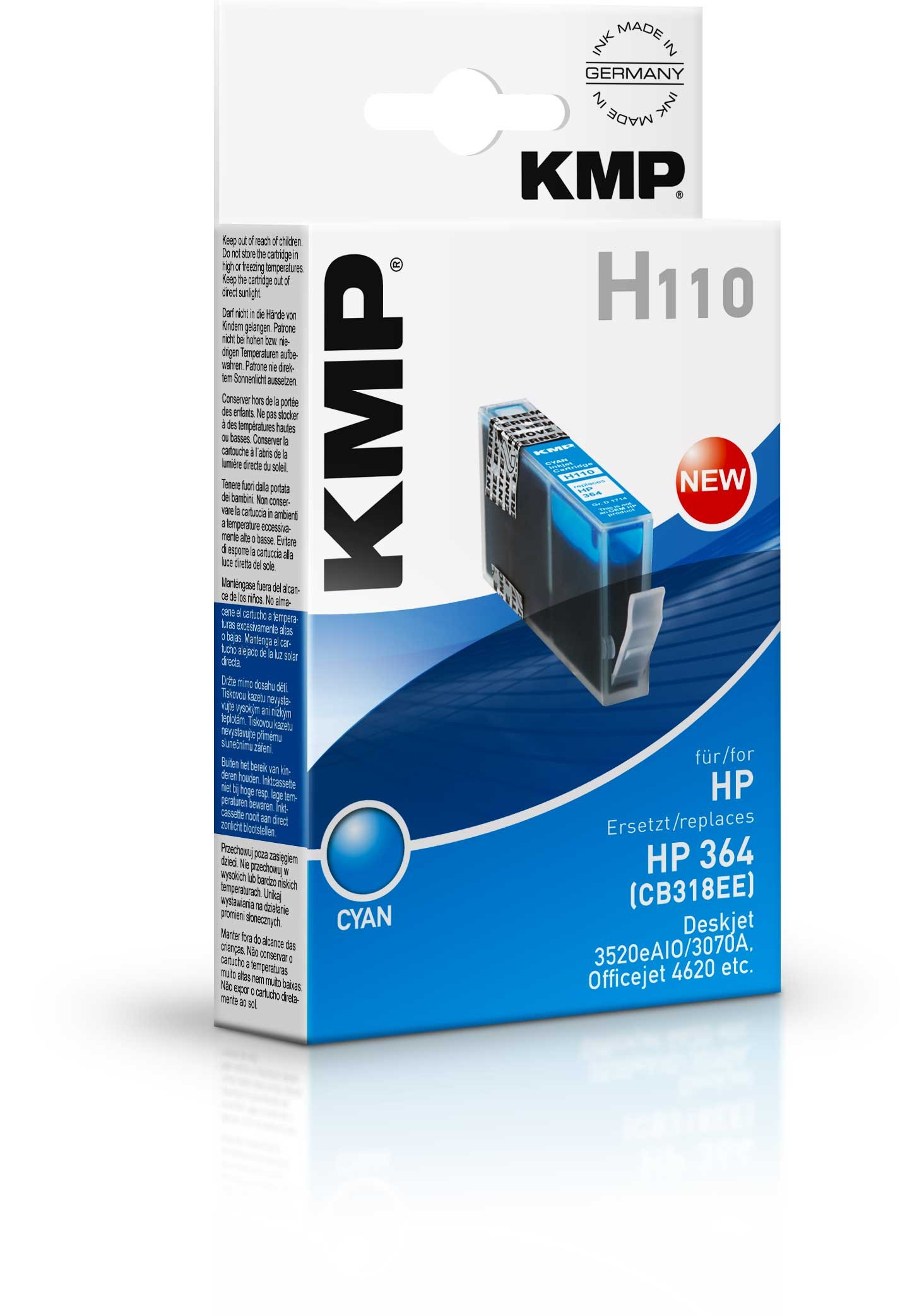 KMP H110 ink cartridge cyan compatible with HP CB 318 EE