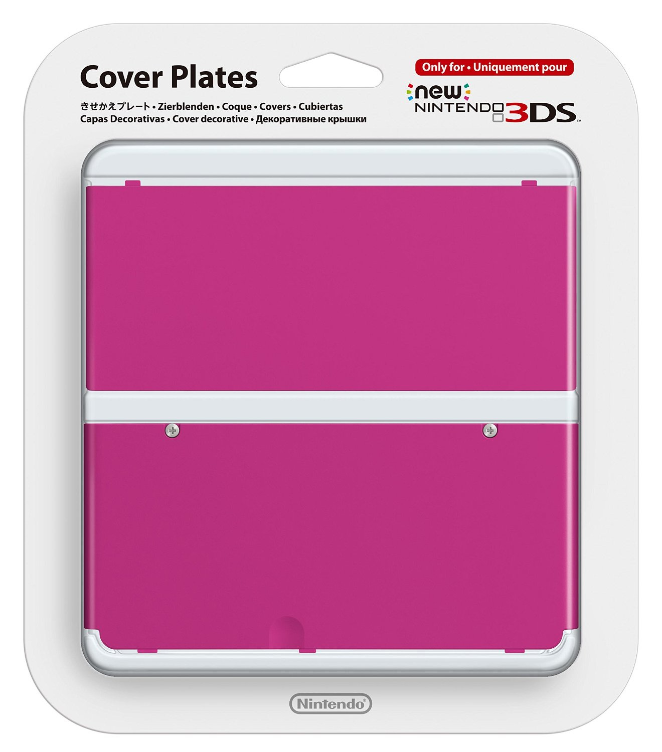 Nintendo New 3DS Cover Plate pink  019