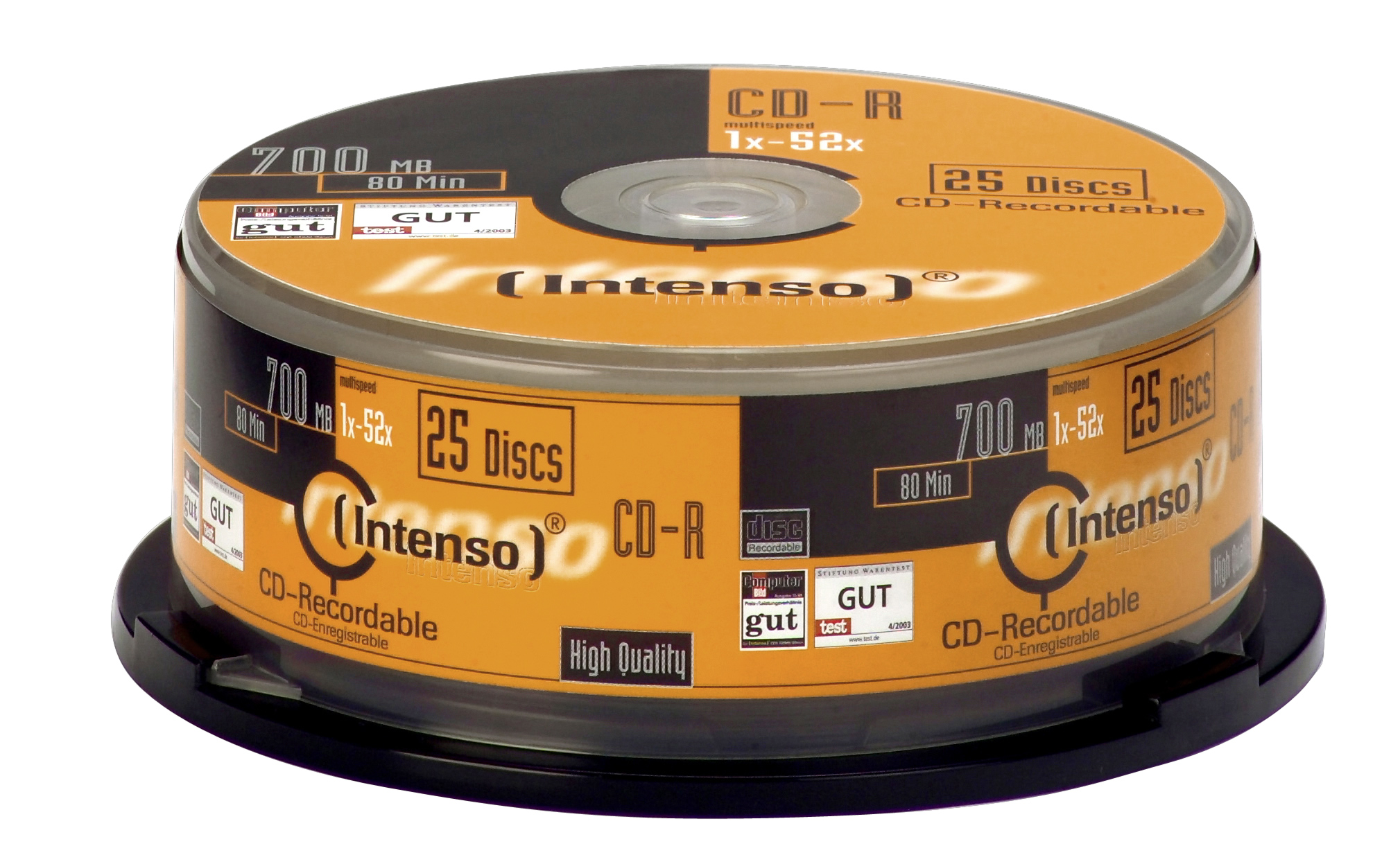 1x25 Intenso CD-R 80 / 700MB 52x Speed, Cakebox Spindle