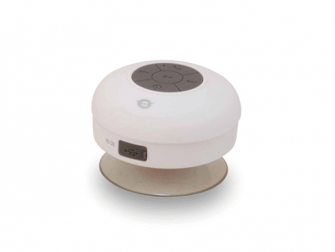 Conceptronic Wireless waterproof Bluetooth Suction Speaker white