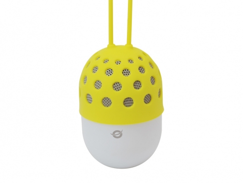 Conceptronic Wireless waterproof Bluetooth LED Speaker yellow