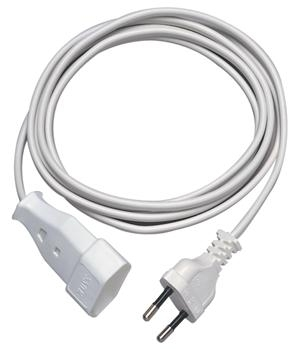 REV Euro Plug extension 3,0 m white