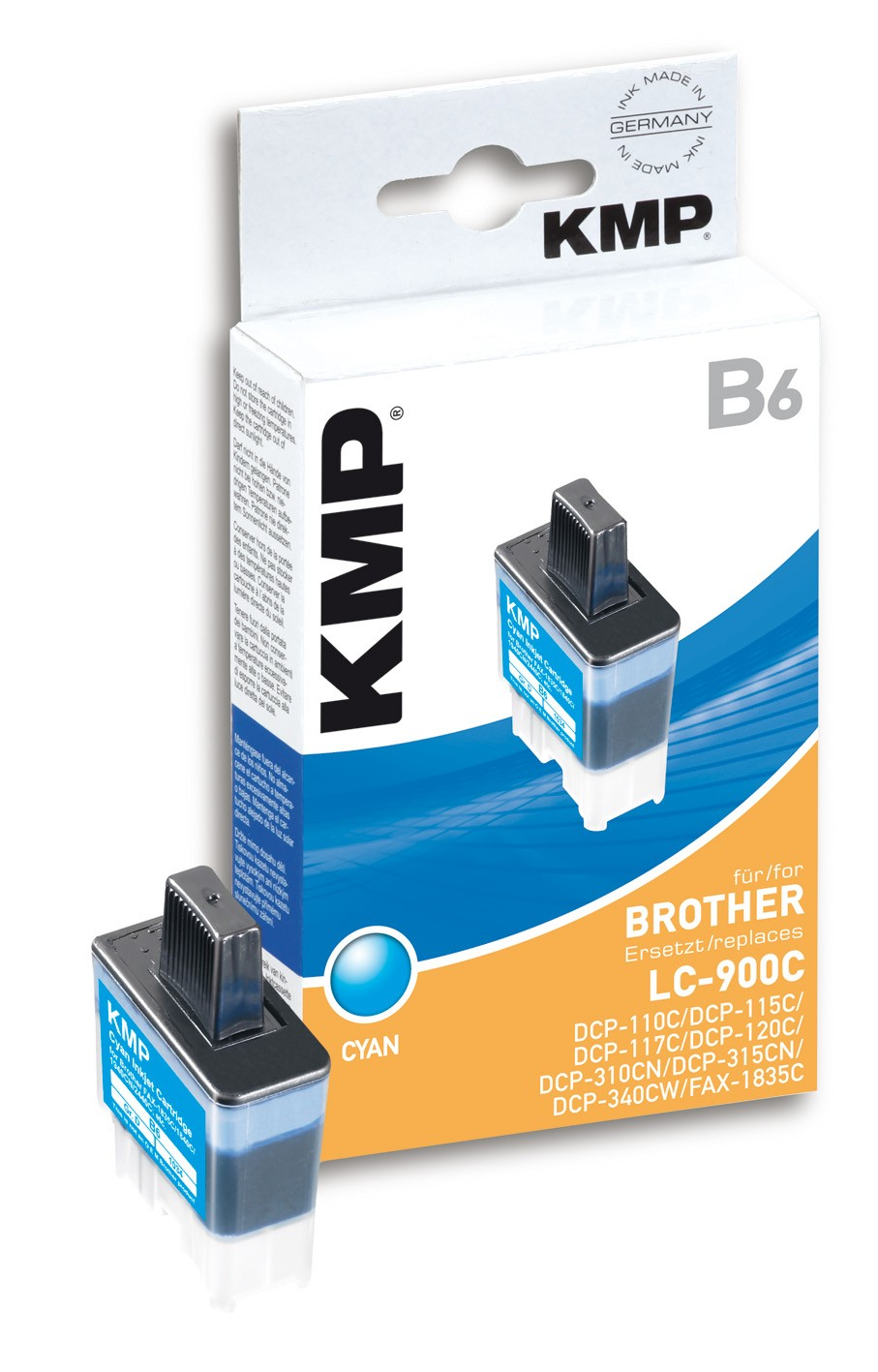 KMP B6 ink cartridge cyan compatible with Brother LC-900 C