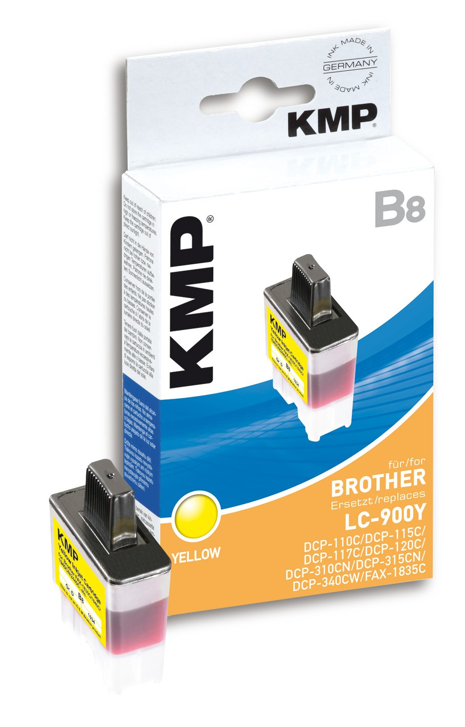 KMP B8 ink cartridge yellow compatible with Brother LC-900 Y