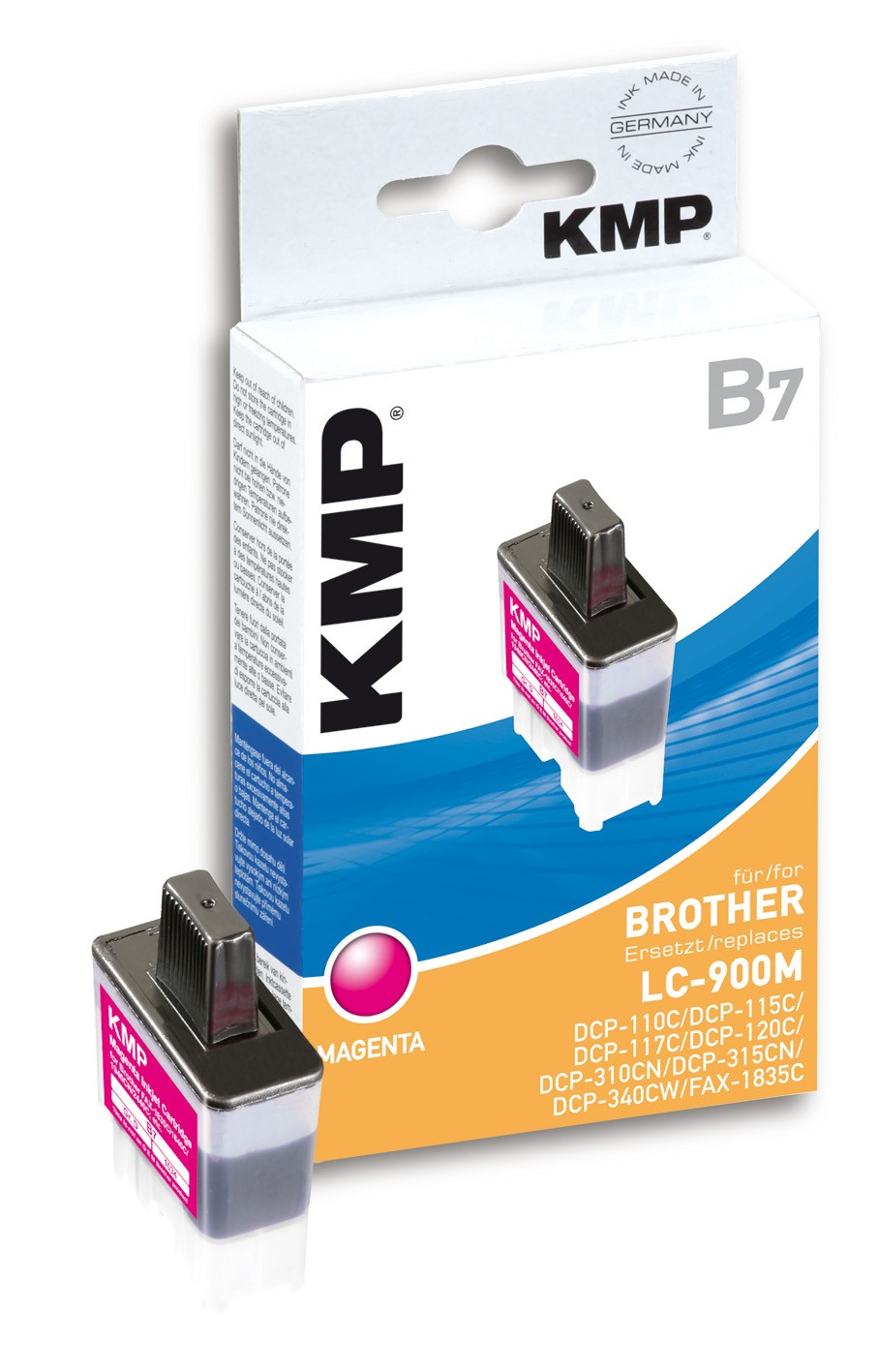 KMP B7 ink cartridge magenta compatible with Brother LC-900 M