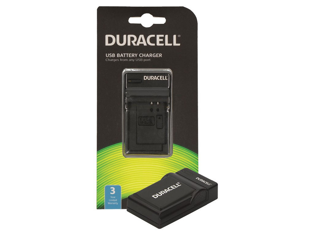Duracell Charger w. USB Cable for GoPro Hero 5 and 6 Battery