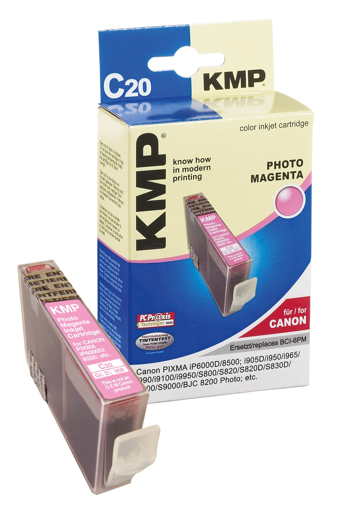 KMP C20 ink cartridge photo mag. compatible with Canon BCI-6 PM