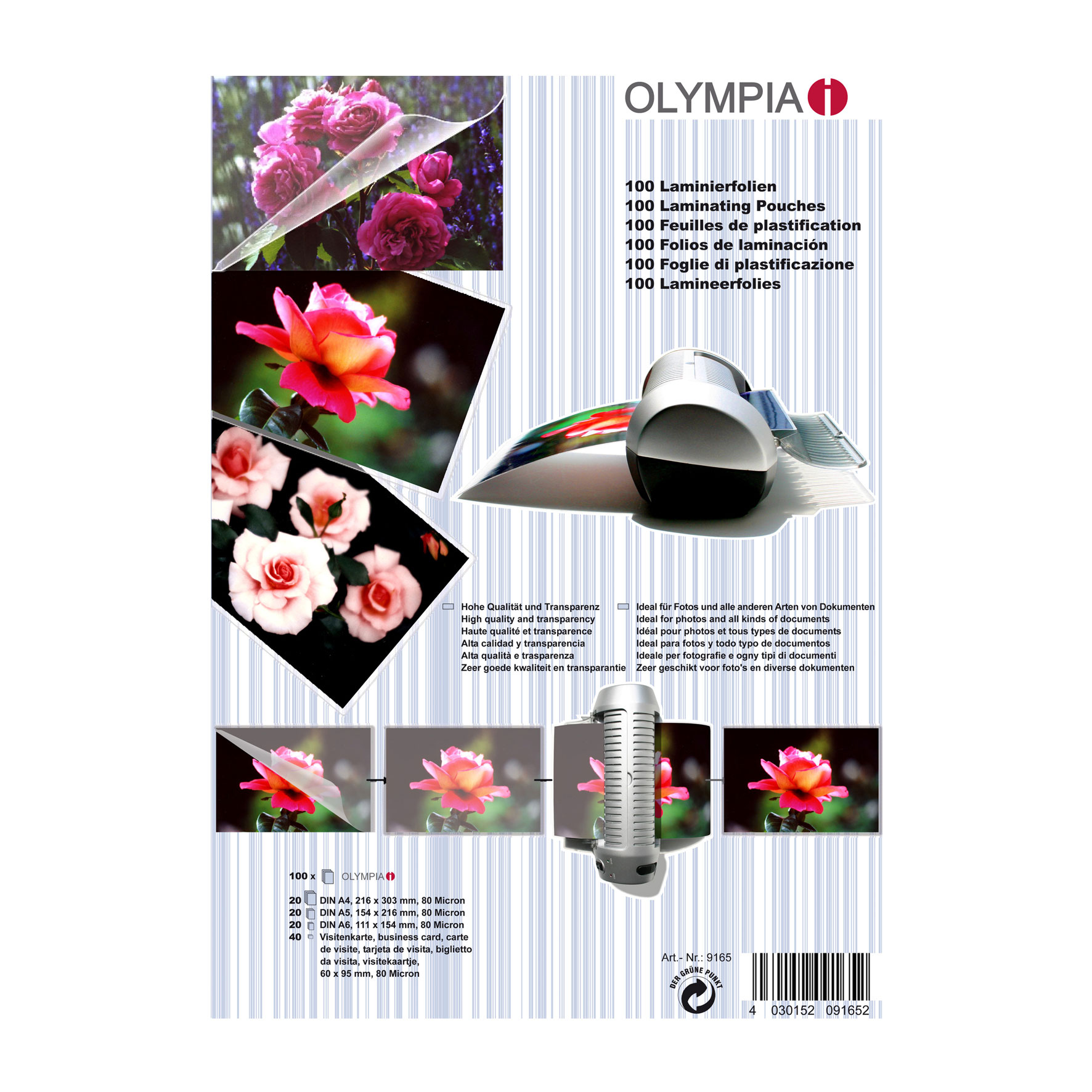 Olympia Laminating pouches Set