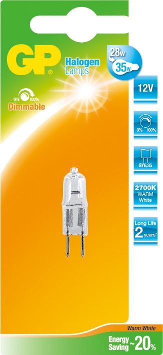 GP Lighting Halogen Capsule GY6.35 25W (35W) 500 lm 12V