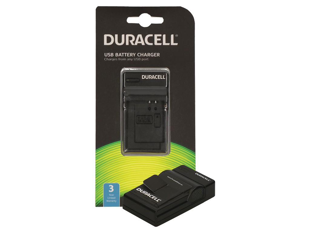 Duracell Charger w. USB Cable for GoPro Hero 3 Battery