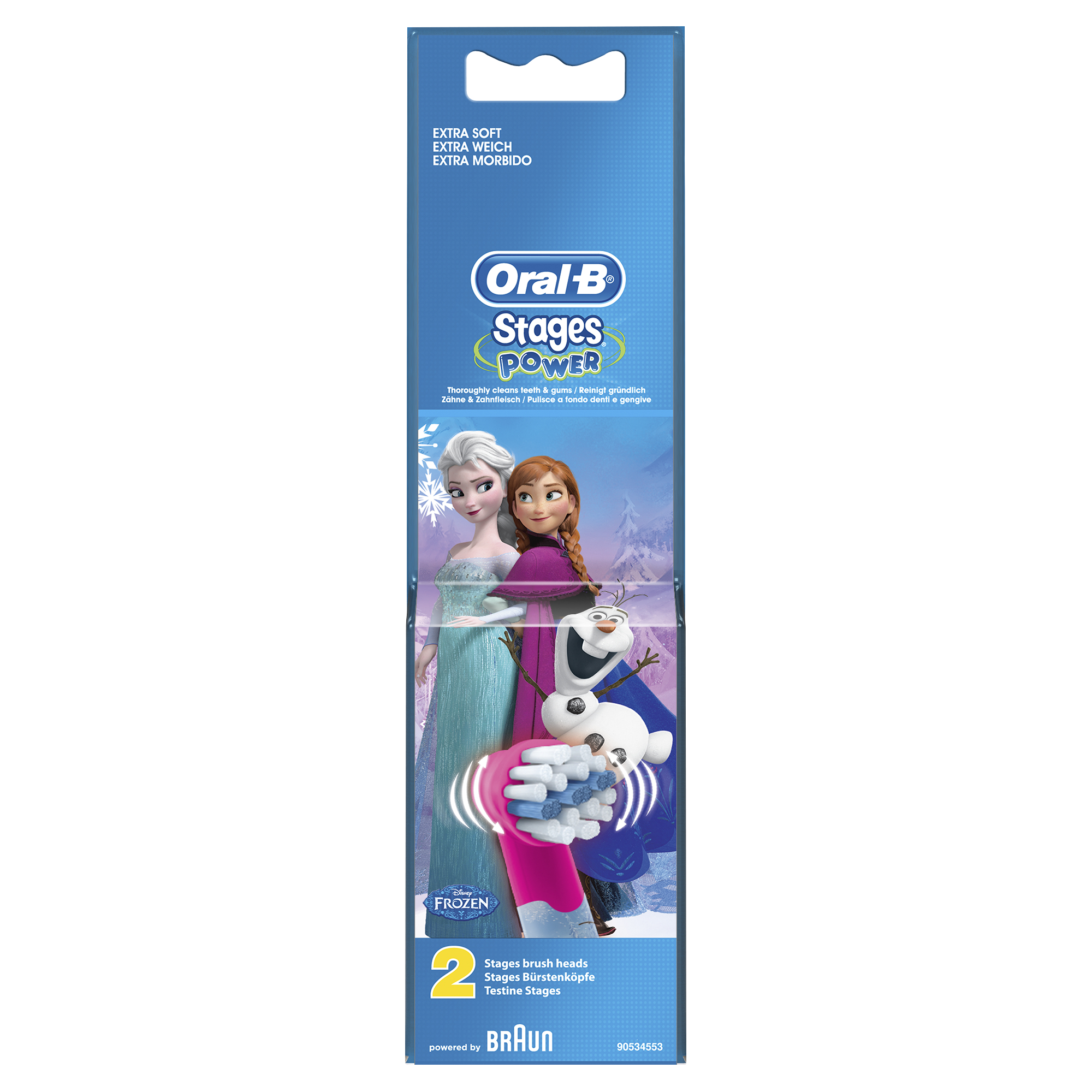Braun Oral-B Toothbrush heads Stages Power  FROZEN     2 Pack