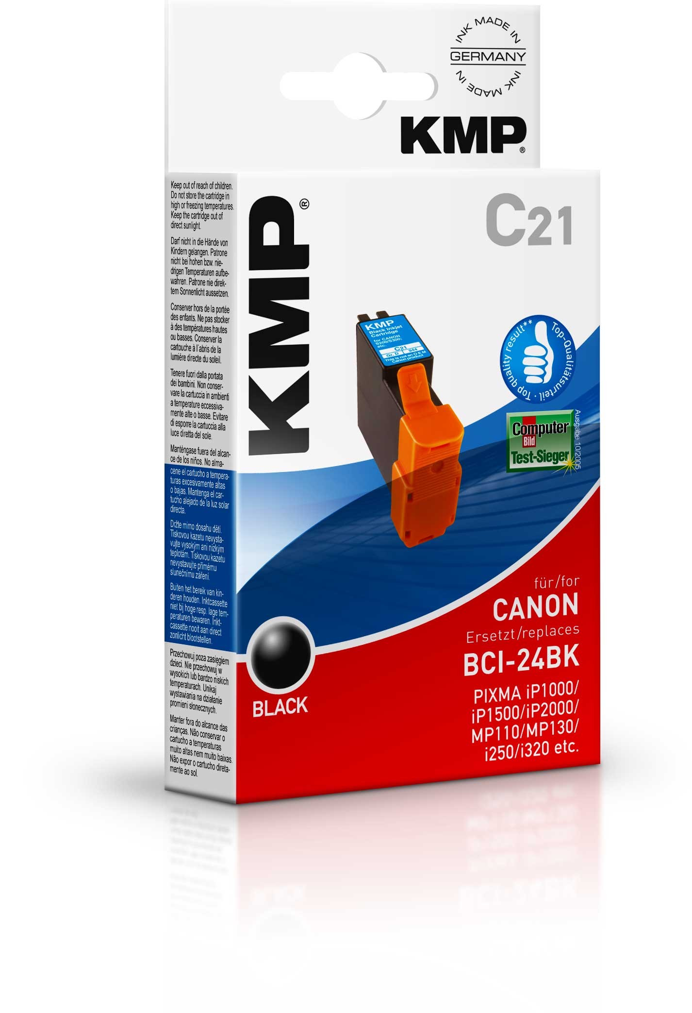 KMP C21 ink cartridge black compatiblle with Canon BCI-24 BK