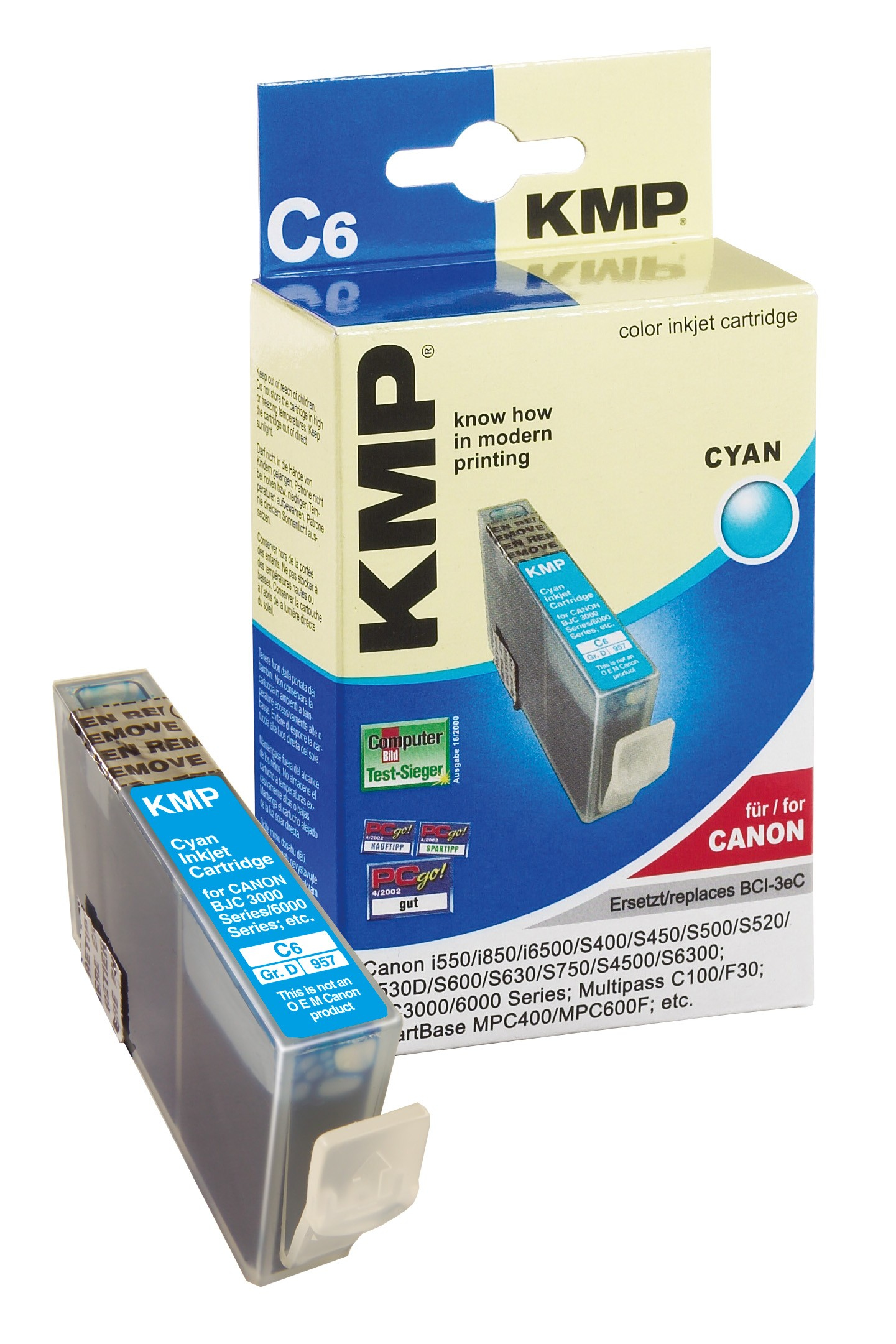 KMP C6 ink cartridge cyan compatible with Canon BCI-3e C