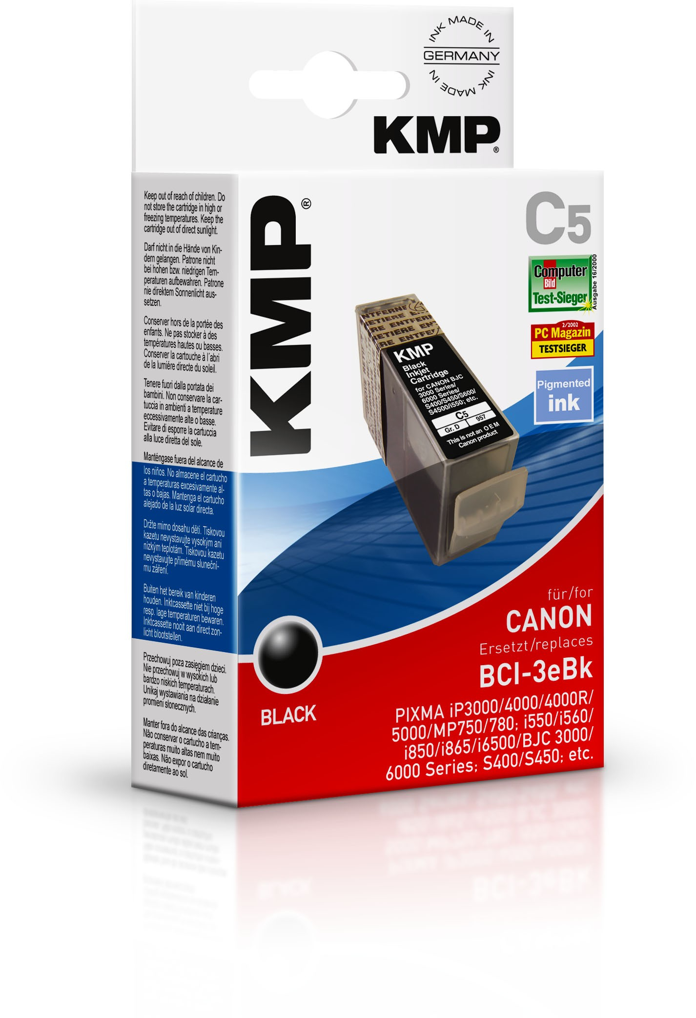 KMP C5 ink cartridge black compatible with Canon BCI-3e BK