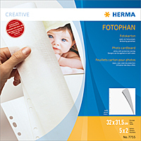 Herma Cardboard  white      7755 Format 32x31,5cm  5x2 sheets